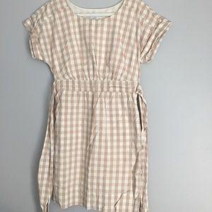 Anthropologie Checkered Midi Dress
